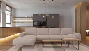 minimalistic Living room by Tobi Architects