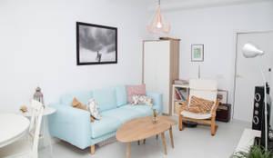 Salon de style de style Scandinave par Remake lab