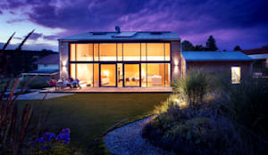 Einfamilienhaus Glasfassade landhaus mit besonderem charme und gesundem raumklima modernes wohnen im naturstammhaus