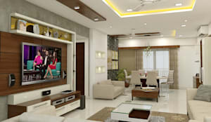 3 BHK flat @ Lodha Meridian:  Living room by shree lalitha consultants