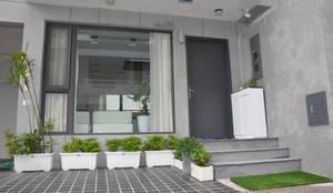 雲林高鐵透天住宅設計:  庭院 by 承悅室內裝修工程設計