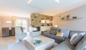Salas de estar modernas por Aangenaam Interieuradvies