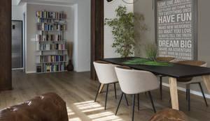 COME IN UN LOFT: Sala da pranzo in stile in stile Industriale di Viu' Architettura