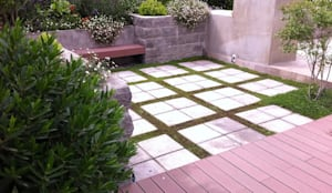 Proyecto de Paisajismo Familia Ruiz : Jardines de estilo  por Aliwen Paisajismo,