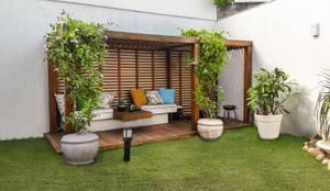 Jardines de invierno de estilo moderno por Cláudio Maurício e Paulo Henrique