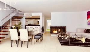 Sala - Comedor: Salas / recibidores de estilo  por EPG  Studio