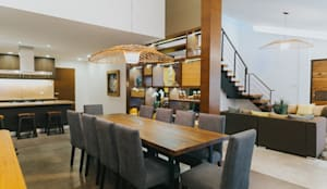 MTB House: tropical Dining room by Living Innovations Design Unlimited, Inc.