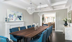 Casually Elegant Dining:  Dining room by Frahm Interiors