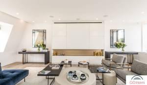 Salas de estar modernas por GIOInterni