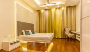 False ceiling in bedroom : modern Bedroom by NVT Quality Build solution