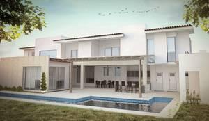 Exterior 1: Casas unifamiliares de estilo  por Arch DB - Arquitectos