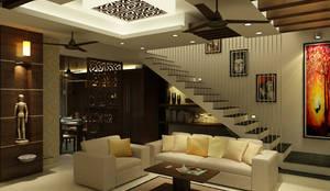 Venkat's Residence,Tirupathi:  Living room by M/s Studio7 Architects
