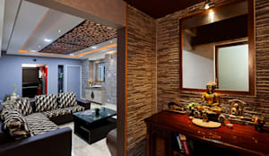 Mr.Ishaan's Residence,Sholinganallur: modern Living room by M/s Studio7 Architects