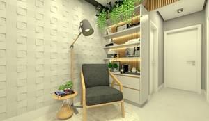 Estar integrado: Salas de estar  por Letícia Saldanha Arquitetura,Moderno