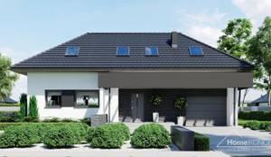 moderne Häuser von HomeKONCEPT | Projekty Domów Nowoczesnych