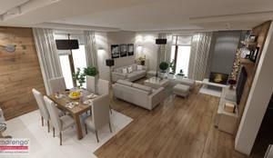 غرفة السفرة تنفيذ MARENGO ARCHITEKTURA WNĘTRZ