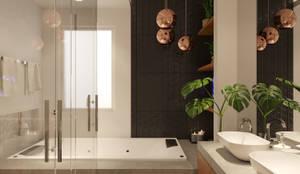 Residência D+A: Banheiros  por Fabíola Escobar - Pratique Arquitetura