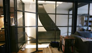 Renovatie Woonhuis Amsterdam:  Trap door YBB Architecture Amsterdam, Modern