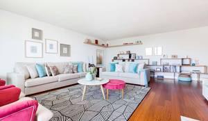 Apartamento Edifício do Parque - T4 MATOSINHOS: Salas de estar escandinavas por SHI Studio, Sheila Moura Azevedo Interior Design