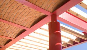 Detalle Cubierta: Techos planos de estilo  por Eduardo Gutiérrez Taller de Arquitectura