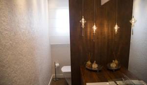 Lavabo: Banheiros rústicos por realizearquiteturaS