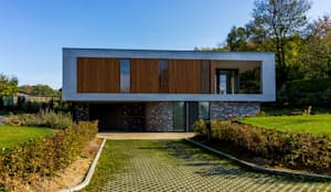 voorgevel:  Villa door 3d Visie architecten