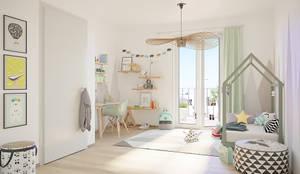 Fünf Wohlfühlfaktoren in den Greenside-Apartments:: moderne Kinderzimmer von JLL Residential Development