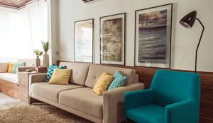Sala de estar: Salas de estar modernas por INTERIOR - DECORAÇÃO EMOCIONAL