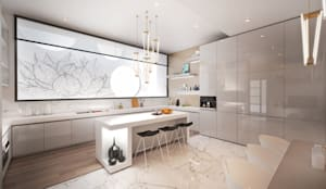 Kitchen: modern Kitchen by Dessiner Interior Architectural