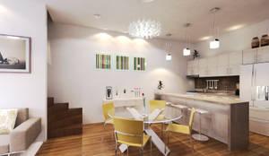 COCINA/COMEDOR : Salas de estilo  por EMERGENTE | Arquitectura