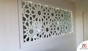 Allure Et Bois claustra en bois et verre + led intégré au cadreallure et bois