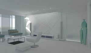 Home interiors: modern Living room by ergate