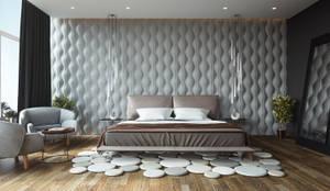 Cuartos de estilo moderno por Adriel Padilla Arquitectos