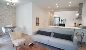 VIVIENDA CENTRO DE ALICANTE: Salones de estilo moderno de SANDRA DE VENA, ARQUITECTURA Y CONSTRUCCION