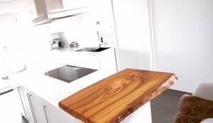 k che wei lack matt mit eingefr sten griffleisten und fenix arpa arbeitsplatte von gerber. Black Bedroom Furniture Sets. Home Design Ideas