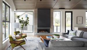 Modern Farmhouse: modern Living room by Feldman Architecture
