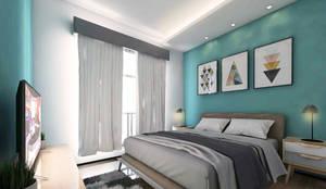 Interior:  Kamar Tidur by Atelier BAOU+