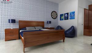 Patel Nagar: modern Bedroom by Matter Of Space Pvt. Ltd.