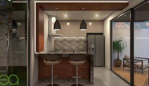 Interior Cocina: Cocinas de estilo moderno por Eutopia Arquitectura
