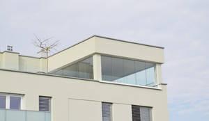 Wintergarten Auf Dachterrasse moderne terrassenüberdachung mit schlanken profilen by schmidinger