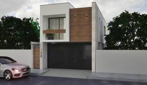 Fachada Principal: Casas unifamiliares de estilo  por A. C. Arquitectura y diseño