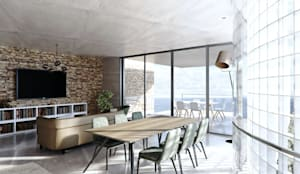 Living Space: minimalistic Living room by 7Storeys