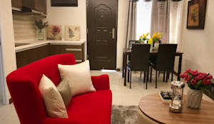 From Plain to Fab: eclectic Living room by SNS Lush Designs and Home Decor Consultancy