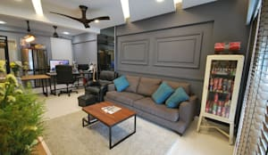 Casa Tropica:  Living room by Hatch Interior Studio Sdn Bhd