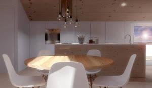 O sótão da família Oliveira: Salas de jantar  por Homestories