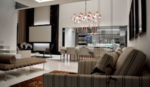 Apartamento Integrado: Salas de estar modernas por BSK Studio