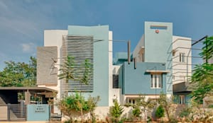 Exterior Design: modern Houses by M/S Ashwin Architects
