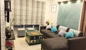 Apartment Interior : modern Living room by URBAIN DEZIN STUDIO