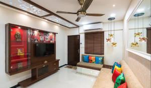 غرفة المعيشة تنفيذ Rhythm  And Emphasis Design Studio