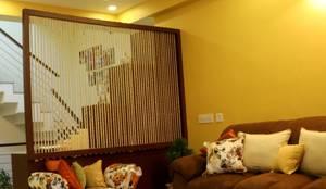4 BHK Apartment of Mrs Rezwana Zahir Bangalore: modern Living room by Cee Bee Design Studio
